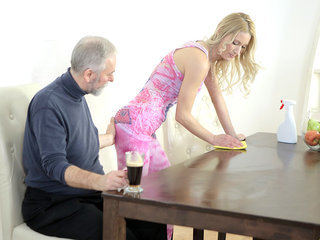 Old goes young guy makes Polina want..