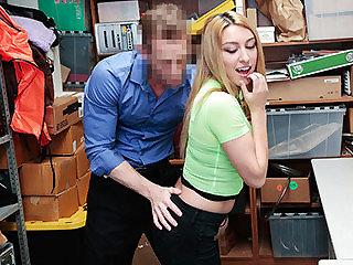 Horny girl fucks LP officer and eats..